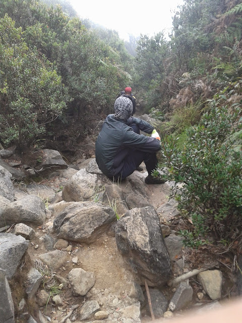 Trek berbatu di gunung Papandayan