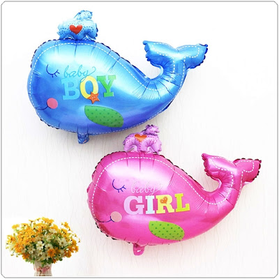 Balon Foil Ikan Paus Mini