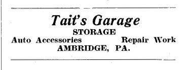 Ambridge Memories: Ambridge memorabilia: Tait's Garage sign
