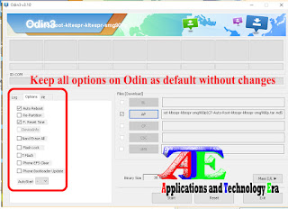 Rooting android phones by CF-Auto-Root using Odin