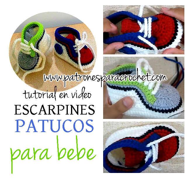 como tejer zapatillas crochet para bebes