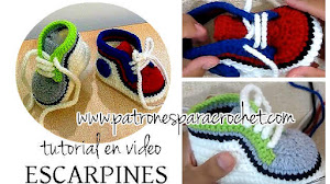 Aprende a Tejer Escarpines o Patucos Zapatillas para Bebé / Video Tutorial Crochet