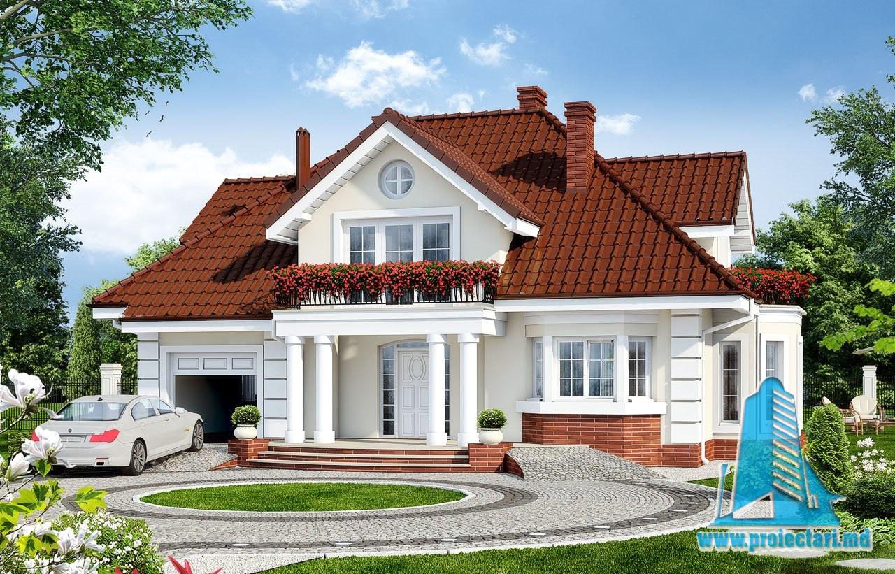 Proiecte de case proiect de casa cu parter mansarda si for Proiecte case cu garaj si mansarda