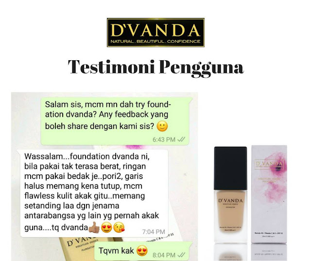 produk kecantikan, dvanda foundation , dvanda weightless essence foundation , review produk kecantikkan , review dvanda foundation , kelebihan dvanda foundation , marula oil , keistimewaan marula oil , dvanda treatment foundation