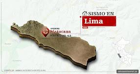 Temblor en Lima de 4.2 Grados (Hoy Sábado 14 Octubre 2017) Sismo EPICENTRO Matucana - Huarochirí - IGP - www.igp.gob.pe