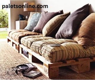 sofa con Europalet reciclado Paletsonline.com
