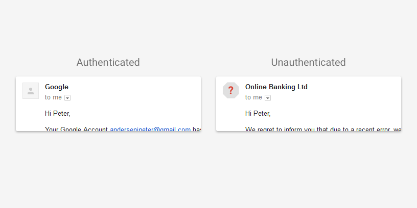 verbeterde security warnings in Google mail