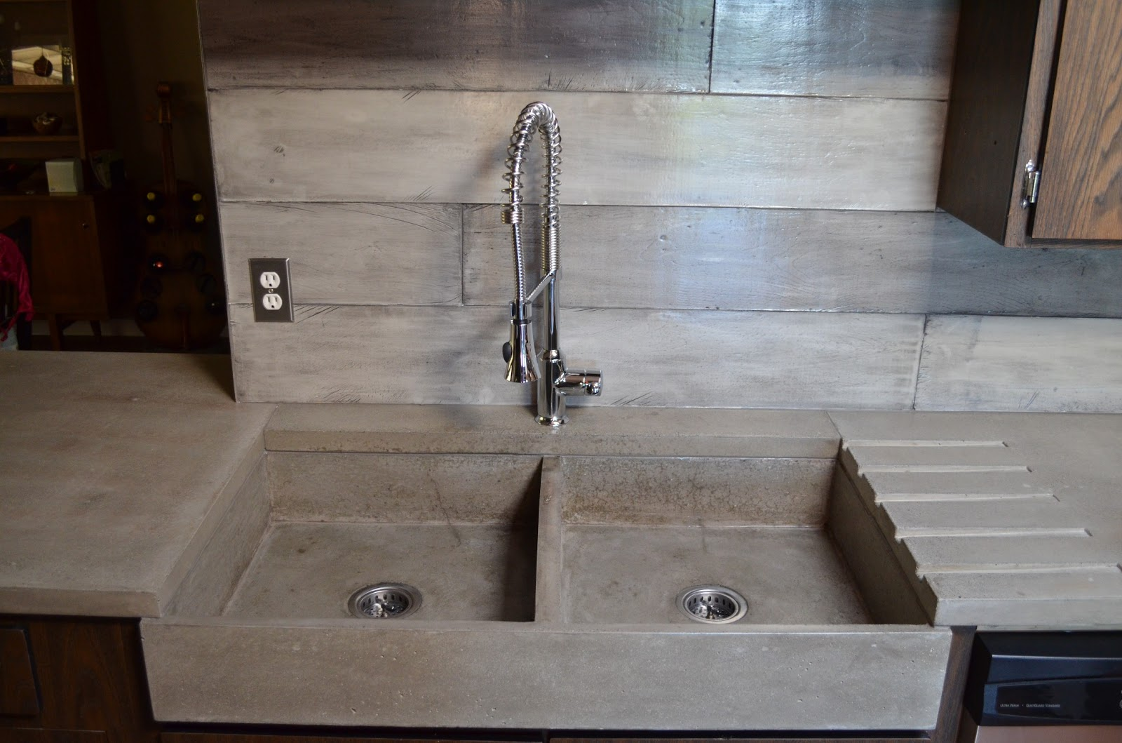 concrete kitchen sink cute rugs mode modern contemporary with