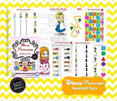 Islamic Homeschooling Worksheets: FREE Disney Princess Preschool Pack -  Islamic Version