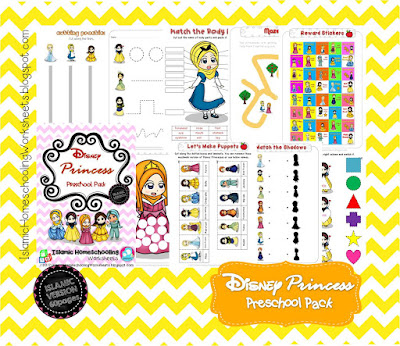 FREE Disney Princess Preschool Pack - Islamic Version