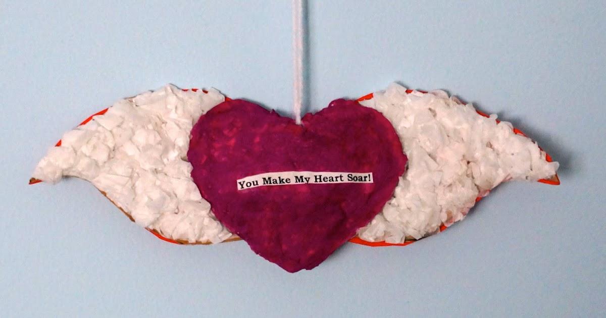 that artist woman papier mache hearts. Black Bedroom Furniture Sets. Home Design Ideas