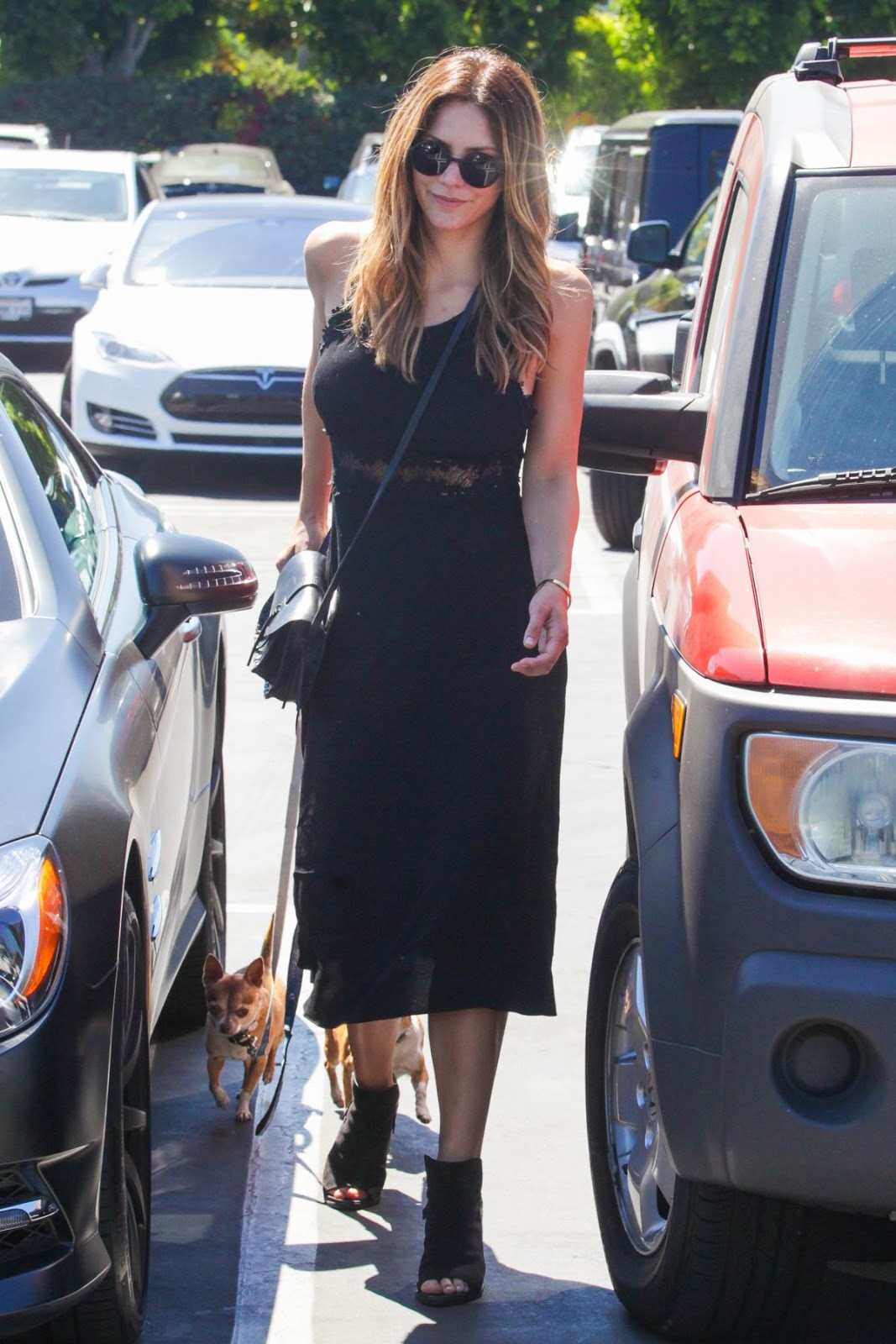 Katharine McPhee at Mauro's Cafe in West Hollywood