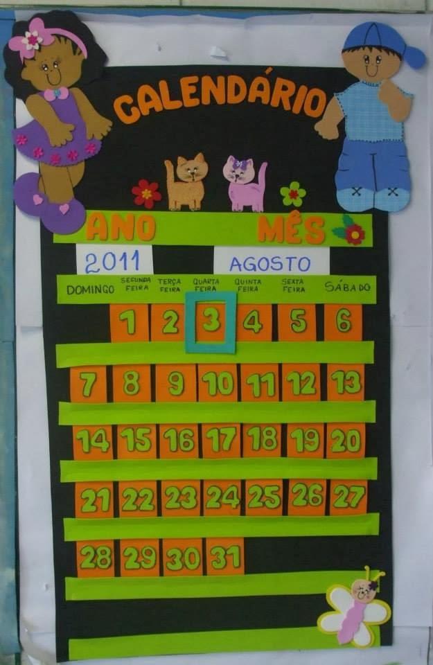 Calendario Para Ninos De Kinder.El Arte De Educar Calendarios Con Goma Eva