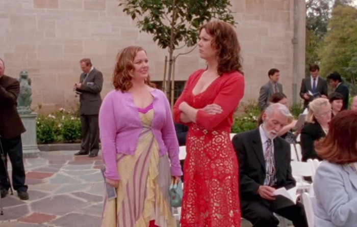 Lorelai's red knit lace dress