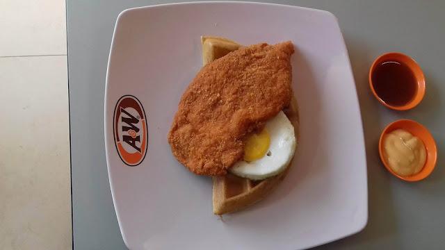 All Day Breakfast Waffles Restoran A&W