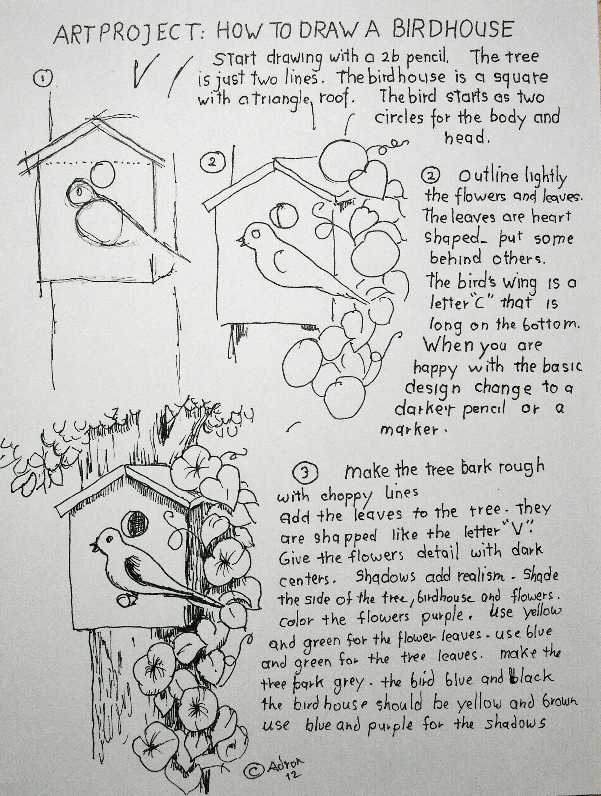 How To Draw Worksheets For The Young Artist June