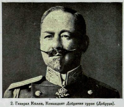 General Kolev, Commander of the Dobric grouping (Dobrudža)