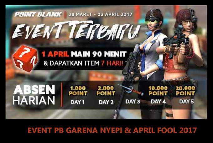 Event PB Garena Nyepi dan April Fool 28 Maret 2017