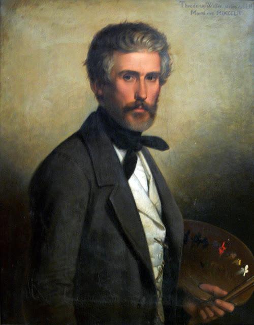 Theodor Leopold Weller, Self Portrait, Portraits of Painters, Fine arts, Portraits of painters blog, Paintings of Theodor Leopold Weller, Painter Theodor Leopold Weller