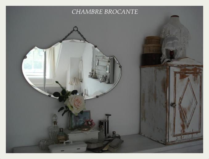 Oude Spiegel Zonder Lijst.Marianne S Chambre Brocante September 2012