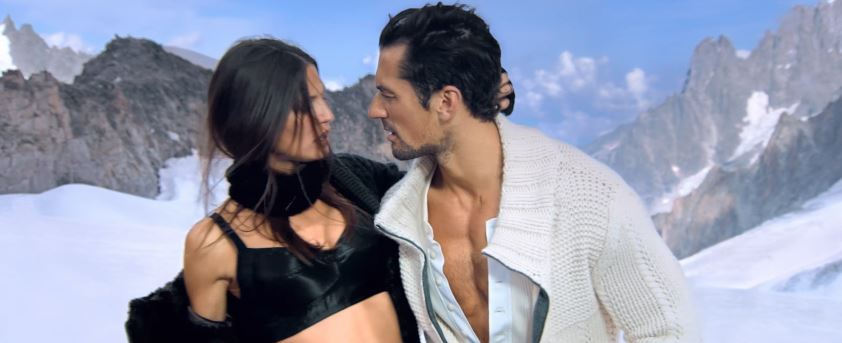Modello e modella Dolce e Gabbana pubblicità con Bianca Balti e David Gandy con Foto - Testimonial Spot Pubblicitario Dolce e Gabbana 2016
