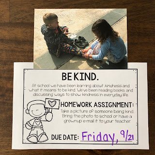 Kindness homework assignment for kids