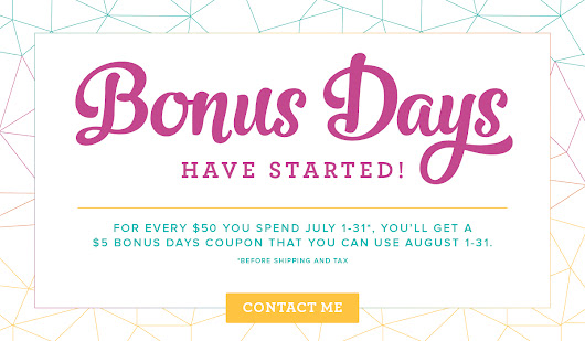 Stampin' Up! Bonus Days are here!