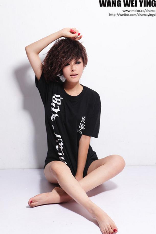 hot girl real short hair