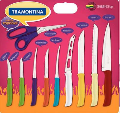 Jogo de facas coloridas Athus