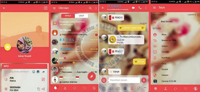BBM Mod Mi Couple Theme v3.3.5.49 Apk update
