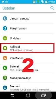 Memilih fitur aplikasi android