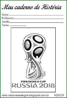 Capa caderno copa mundial 2018