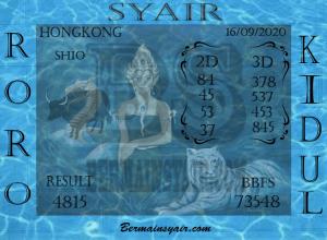 Kode syair Hongkong Rabu 16 September 2020 190