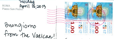 Vatican City Speical postmark and postage stamps