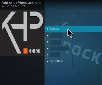 install Selfless Kodi Addon