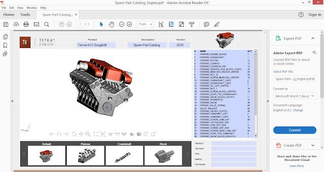 Interactive 3D PDF file