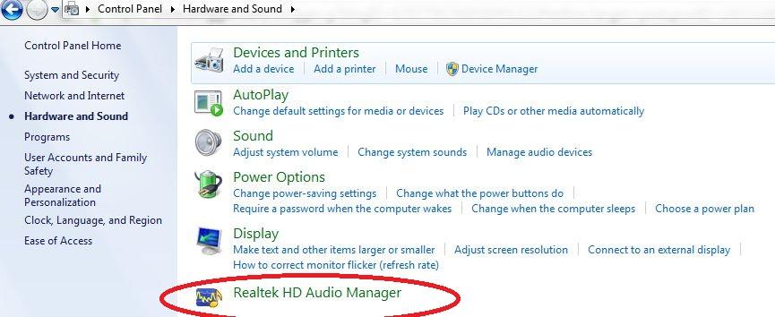 speakers not working windows 7