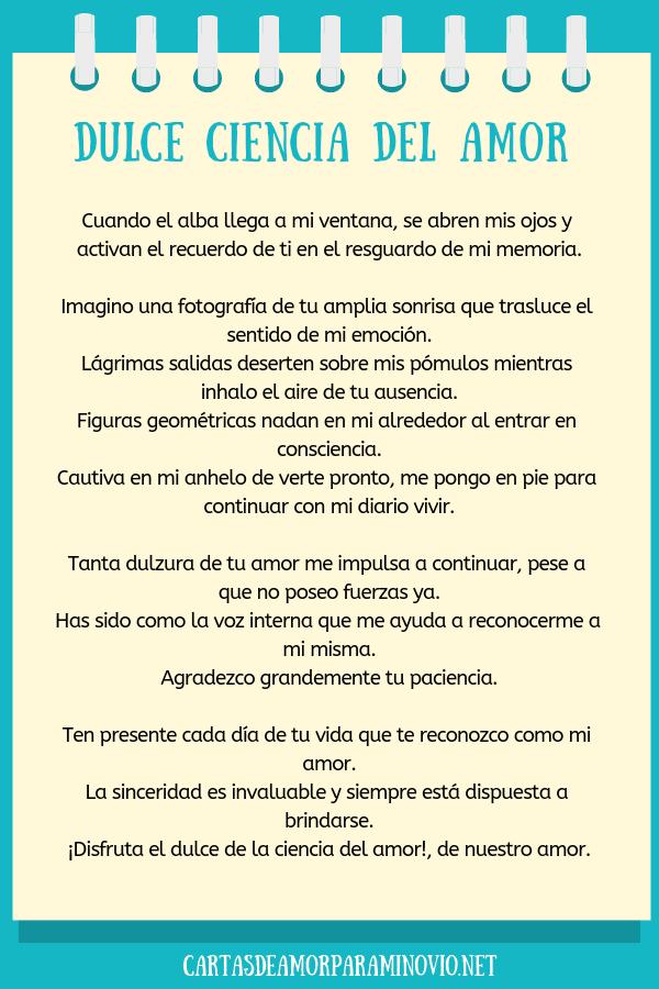 Carta de amor para mi novio para llorar - Dulce ciencia del amor