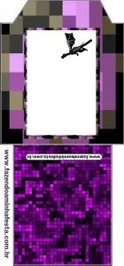 Pixel Gum 3D, Roblox and Minecraft Free Printable Tea Bag.