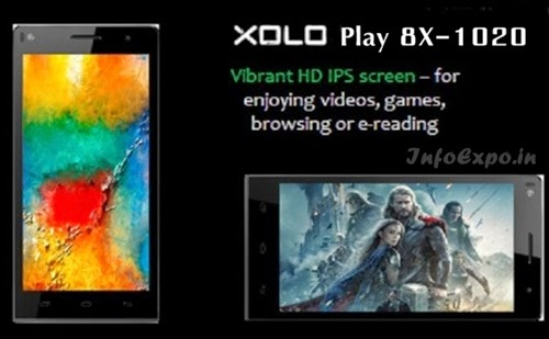 XoloPlay 8X-1020: 5 inch,1.4GHz Octa core Android Phone Specs, Price