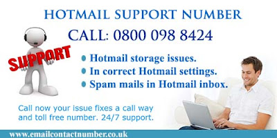 Hotmail support number uk