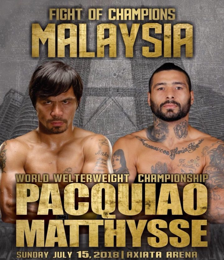 Manny Pacquiao vs Lucas Matthysse (REPLAY) July 15 2018 SHOW DESCRIPTION: Manny Pacquiao vs. Lucas Matthysse, billed as Fight of Champions is an upcoming boxing match for the WBA (Regular) […]