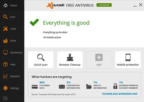 تطبيق أفاست لمكافحة الفيروسات مجاناً