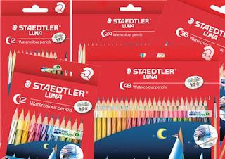 STAEDTLER LUNA Watercolour adalah pensil warna terbaik untuk anak yang dilapisi dengan ABS agar tidak mudah patah.
