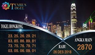 Prediksi Angka Togel Hongkong Rabu 26 Desember 2018