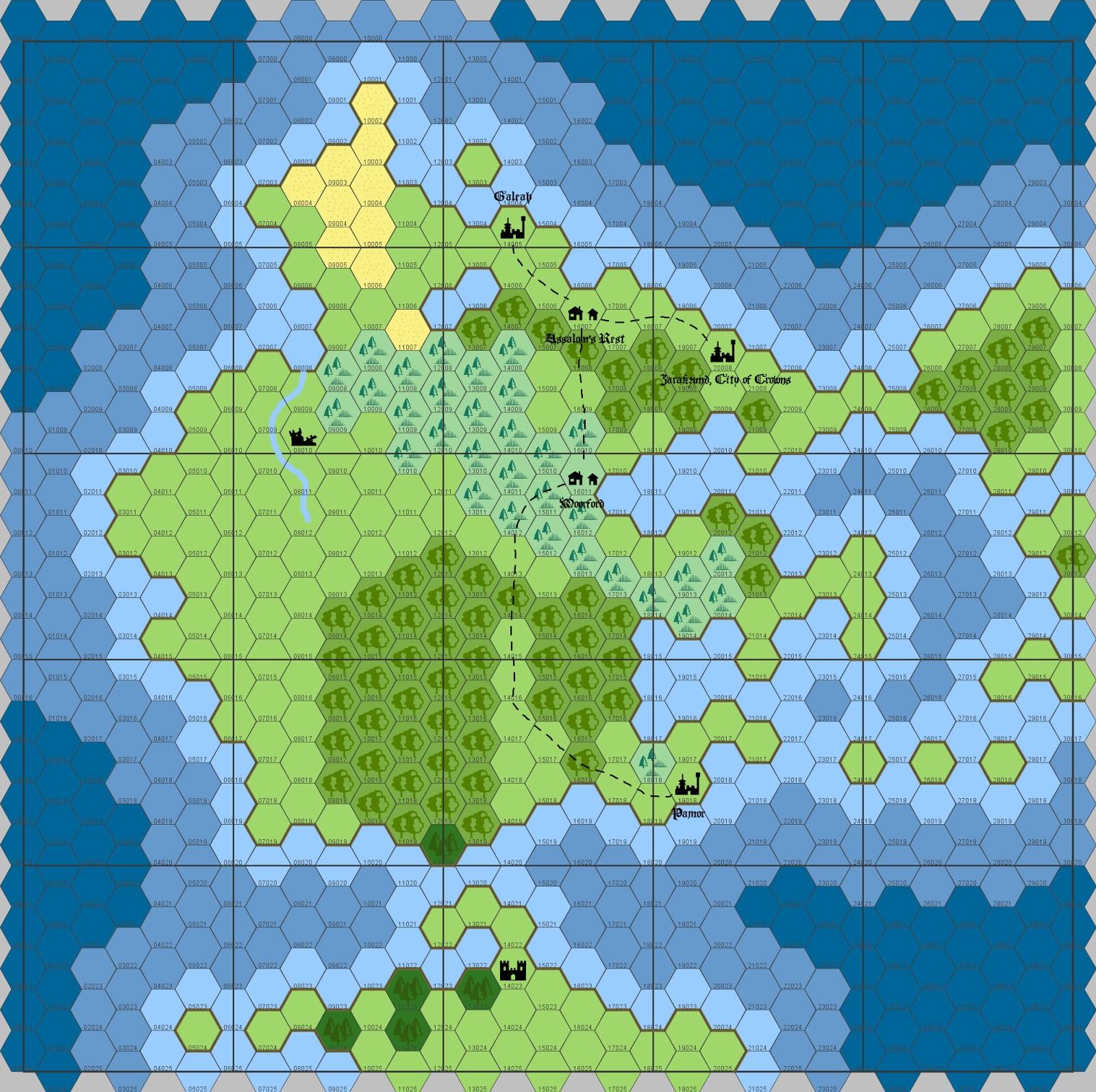 Hexographer World Map.Lampblack Brimstone Campaign Setting Making The World