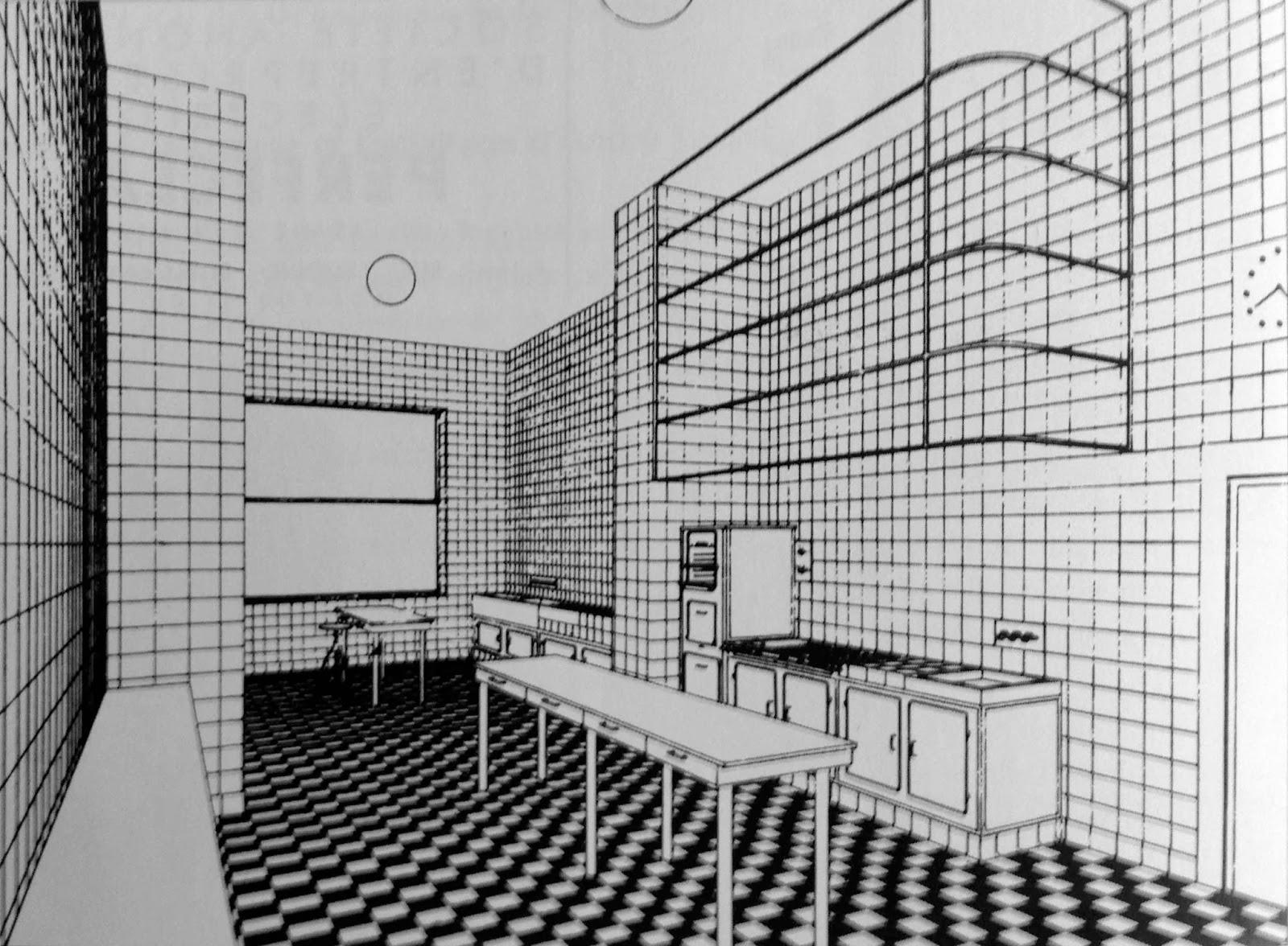 le blog des amis de la villa cavrois la cuisine. Black Bedroom Furniture Sets. Home Design Ideas