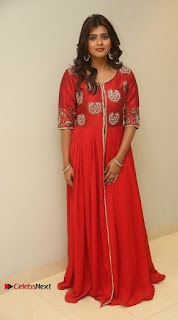 Actress Heba Patel Latest Stills in Red Dress at Mister Movie Trailer Launch Event  0037.jpg