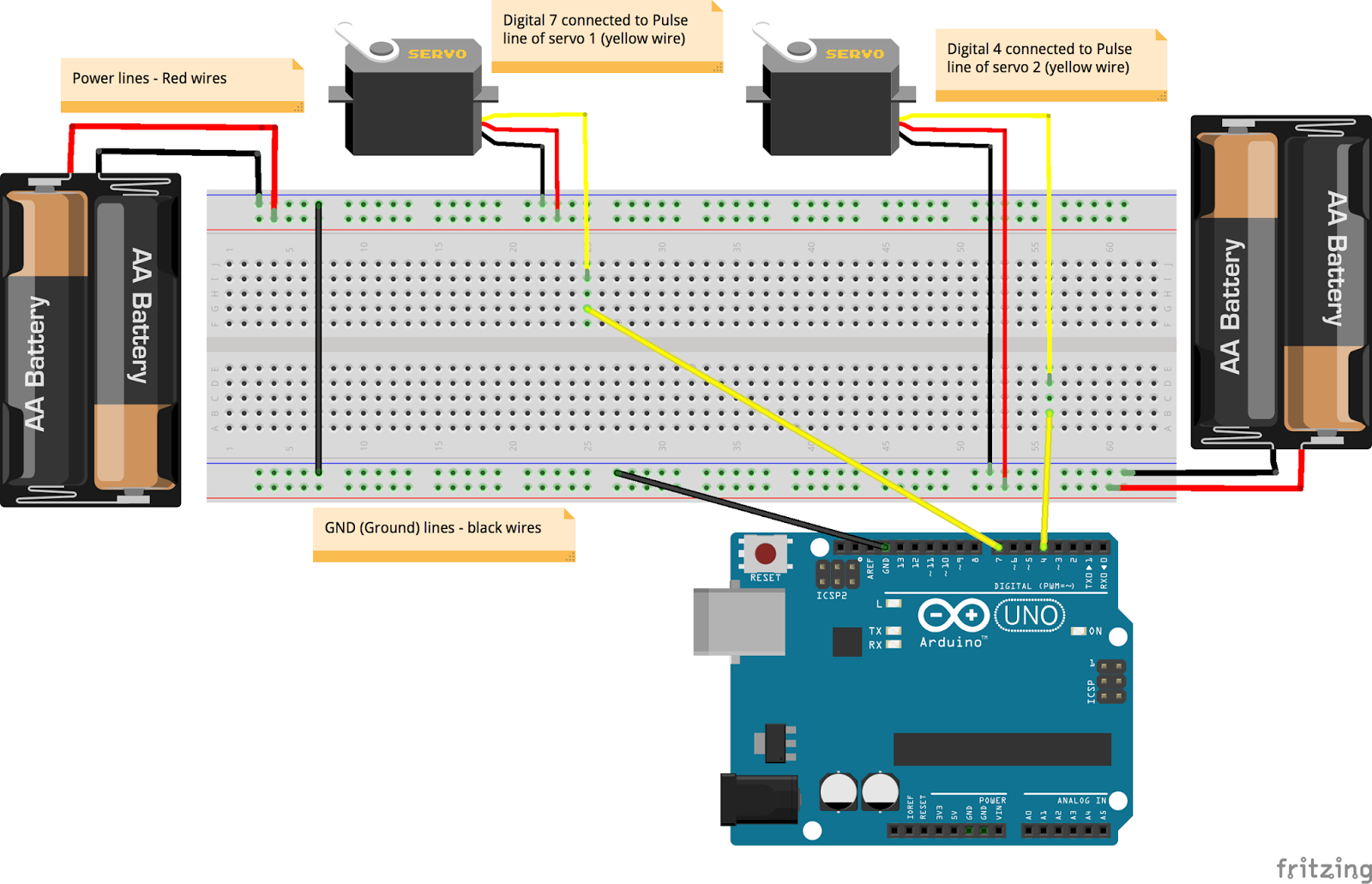 Move My Robot S4a Scratch For Arduino Project A Keyboard Wiring Vs Color Coding The Jumper Wires Used Connections Would Make It Really Easy Kids To Do I Have Provided Step By Diagrams