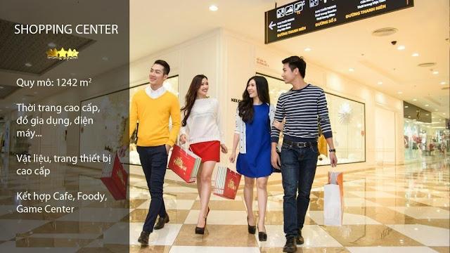 Trung tâm thương mại tại Ecocity Long Biên.